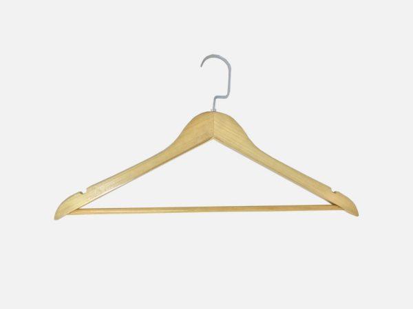 Chelle Varnished Wood Clothes Hanger Edited