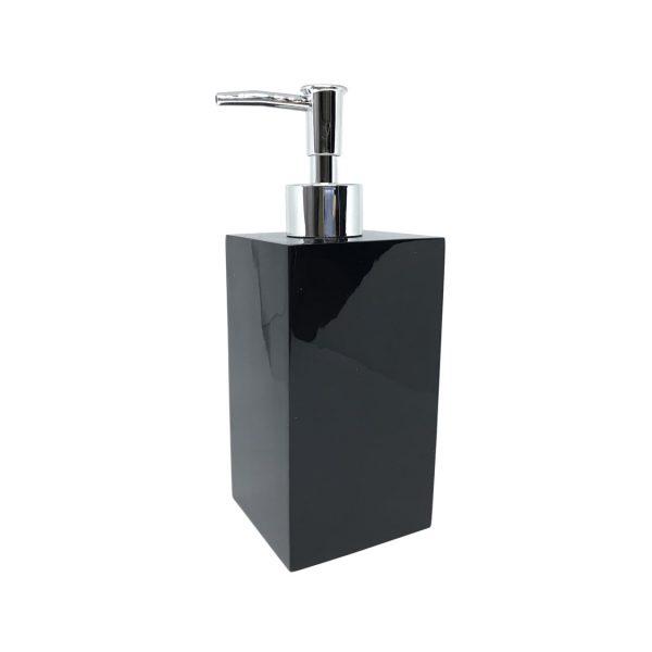 Delilah Black Ceramic Soap Dispenser
