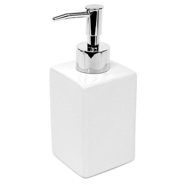 Delilah White Ceramic Soap Dispenser