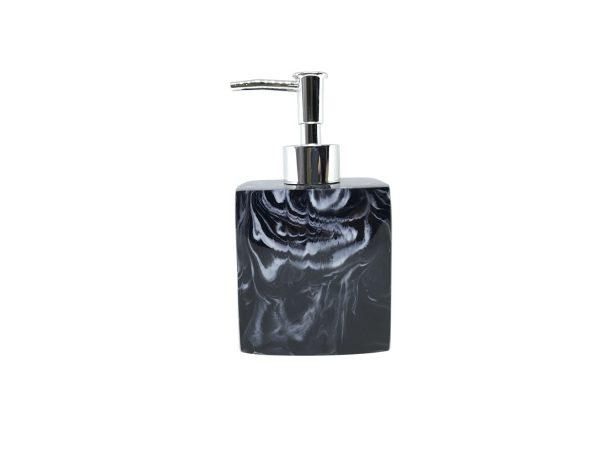 Jena Black Marbled Soap Dispenser