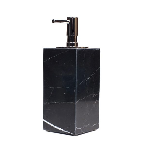 Pearly Black Marbled Ceramic Soap Dispenser