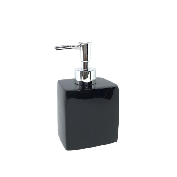 Pura Black Ceramic Soap Dispenser