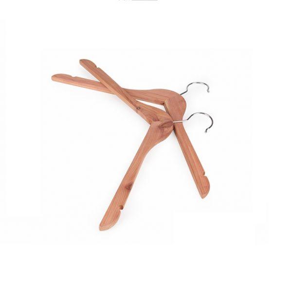 Andre Premium Cedar Wood Clothes Hanger Side