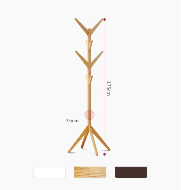 Cele Wooden Coat and Clothes Hanger