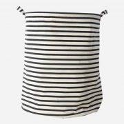 Lewis Black Striped Laundry Basket
