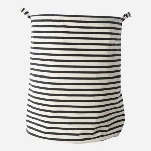 Lewis Black Striped Laundry Basket