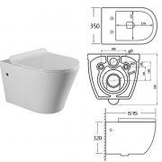 WH 180031 Toilet Bowl Specs
