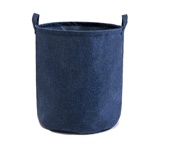 Willow Navy Blue Laundry Basket