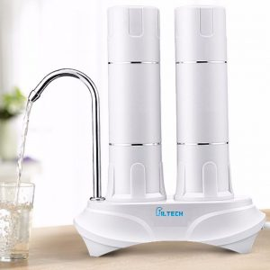 Xeltro CT22 - Countertop Twin Water Filter Background